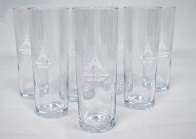 Grabacion láser sobre cristal