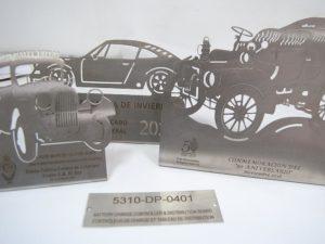 Corte y grabado láser sobre metal – Trofeos campeonato Truc